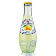 Упаковка газированного сокосодержащего напитка SanPellegrino Limonata (лимон) 0,2 в стекле - 24 шт.