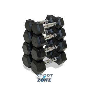 Набор гексагональных гантелей 4 пары от 2 до 5 кг