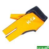 Weekend Перчатка бильярдная «K-1» (черно-оранжевая, вставка кожа), интернет-магазин товаров для бильярда Play-billiard.ru