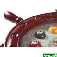 Weekend Часы настенные «Штурвал» 50 см х 50 см, деревянные, интернет-магазин товаров для бильярда Play-billiard.ru. Фото 2