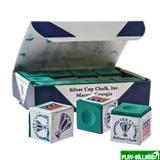 Weekend Мел «Silver Cup» (12 шт) зеленый, интернет-магазин товаров для бильярда Play-billiard.ru