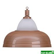 Лампа на один плафон «Crown» (бронзовая штанга, бронзовый плафон D38см), интернет-магазин товаров для бильярда Play-billiard.ru