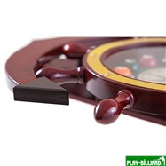 """Часы настенные """"Якорь"""" 40 см х 61 см, деревянные, интернет-магазин товаров для бильярда Play-billiard.ru. Фото 4"""