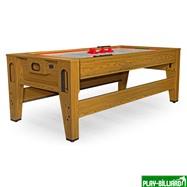 DBO Cтол-трансформер «Twister» 3 в 1  (бильярд, аэрохоккей, настольный теннис, 217 х 107,5 х 81 см, дуб), интернет-магазин товаров для бильярда Play-billiard.ru. Фото 9