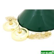 Weekend Лампа на два плафона «Allgreen» (зелёная штанга, зелёный плафон D35см), интернет-магазин товаров для бильярда Play-billiard.ru. Фото 2