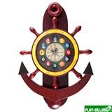 Weekend Часы настенные «Якорь» 40 см х 61 см, деревянные, интернет-магазин товаров для бильярда Play-billiard.ru