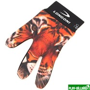 Longoni Перчатка бильярдная «Longoni Fancy Tiger», интернет-магазин товаров для бильярда Play-billiard.ru. Фото 1