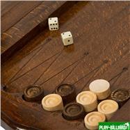 """Нарды резные """"Корона"""" с ручкой 50, Haleyan, интернет-магазин товаров для бильярда Play-billiard.ru. Фото 3"""