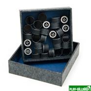 Kamui Наклейка для кия «Kamui Clear Black» (M) 13 мм, интернет-магазин товаров для бильярда Play-billiard.ru. Фото 2