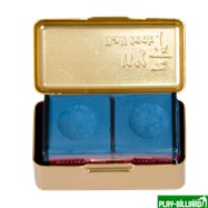 Ball Teck Мел «Ball teck PRO II» (2 шт, в золотистой металлической коробке) синий, интернет-магазин товаров для бильярда Play-billiard.ru. Фото 7