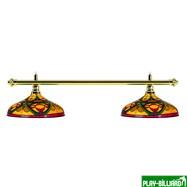 Weekend Лампа на два плафона «Colorful» (золотистая штанга, цветной плафон D44см), интернет-магазин товаров для бильярда Play-billiard.ru