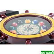 """Часы настенные """"Якорь"""" 40 см х 61 см, деревянные, интернет-магазин товаров для бильярда Play-billiard.ru. Фото 5"""