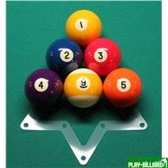 Weekend Комплект трафаретов для установки шаров 57,2мм (пул), интернет-магазин товаров для бильярда Play-billiard.ru. Фото 7