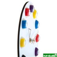 """Часы настенные """"12 шаров"""" D20,5 см (белые), пластик, интернет-магазин товаров для бильярда Play-billiard.ru. Фото 7"""