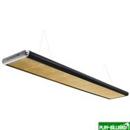 Лампа плоская люминесцентная «Longoni Nautilus» (черная, серебристый торец, золотистый отражатель, 247x31x6см), интернет-магазин товаров для бильярда Play-billiard.ru