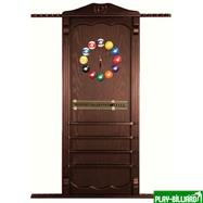 Weekend Киевница навесная с полкой для шаров (темно-коричневая, 137 х 99 х 8 см), интернет-магазин товаров для бильярда Play-billiard.ru