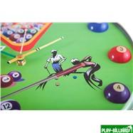 Weekend Часы настенные «12 шаров» D32 см (зеленые), пластик, интернет-магазин товаров для бильярда Play-billiard.ru. Фото 10