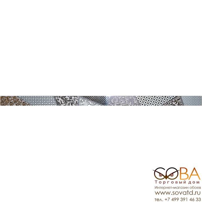 Бордюр Берген  стеклянный серый 3,5х60 купить по лучшей цене в интернет магазине стильных обоев Сова ТД. Доставка по Москве, МО и всей России