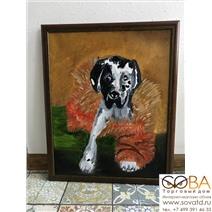 Портрет стильной собаки купить по лучшей цене в интернет магазине стильных обоев Сова ТД. Доставка по Москве, МО и всей России