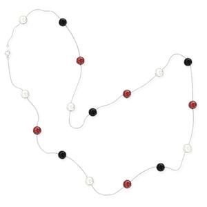 Серебряное ожерелье с цветными бусинами JEW NECK BEADS COL