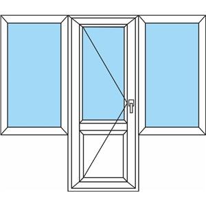 Балконный блок стандарт 2 окна.