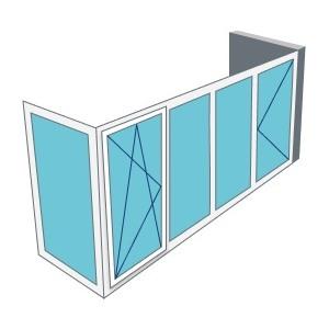 Остекление Г - образного балкона
