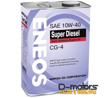 Моторное мало Eneos Super Diesel Semi-Synthetiс 10w-40 (4л.)