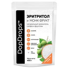 Эритритол DopDrops 1:1 Монк Фрукт 450гр