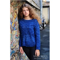 Набор свитер CRYSTAL объем 110 см описание+пряжа