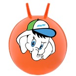 """Мяч-попрыгун """"Слоненок"""" GB-401, 45 см, с рожками, оранжевый"""