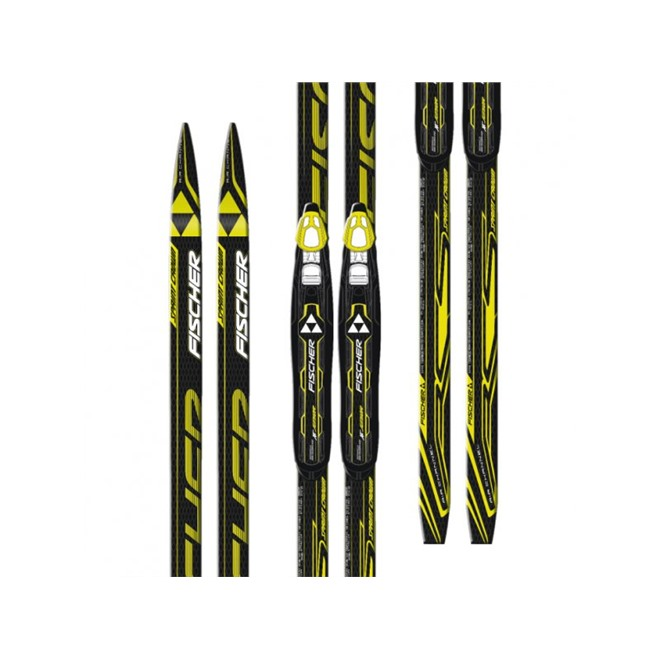 Лыжи Fischer SPRINT CROWN YELLOW NIS JR, интернет-магазин Sportcoast.ru