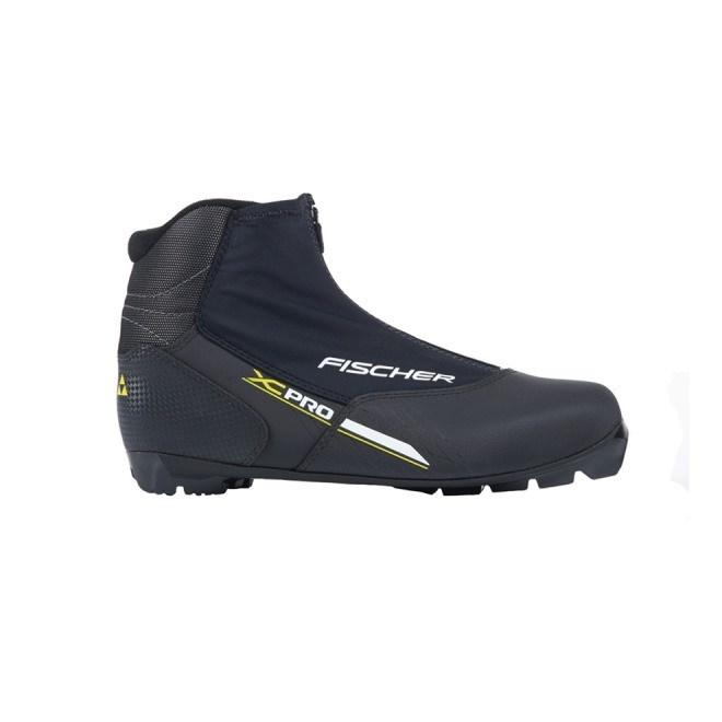 Ботинки NNN Fischer XC PRO BLACK YELLOW, интернет-магазин Sportcoast.ru