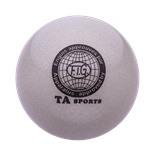 Мяч для художественной гимнастики RGB-102, 19 см, серый, с блестками
