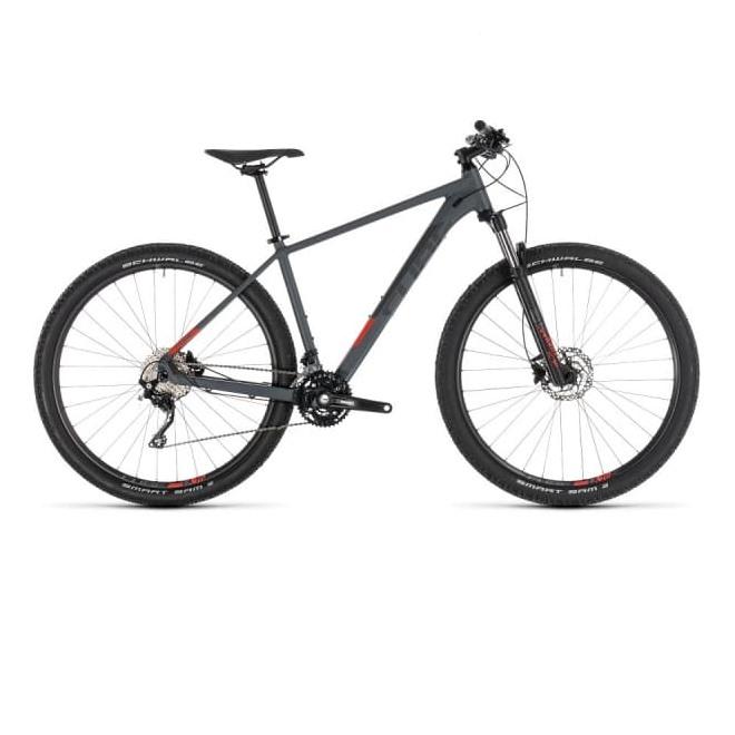 Велосипед CUBE ATTENTION 27.5 (iridium'n'red) 2019, интернет-магазин Sportcoast.ru