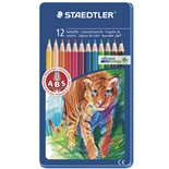 Карандаши цветные Staedtler  Noris club 12 цветов в пенале 145 AM12