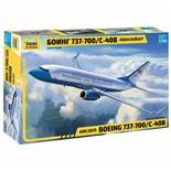 Сборная модель Звезда Авиалайнер пассажирский Боинг 737-700 С-40В (1:144) 7027