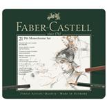 Набор художественный Faber Castell Pitt Monochrome 21 предмет в коробке 112976