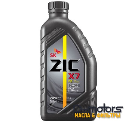 Моторное масло ZIC X7 FE 0W-20 (1л.)