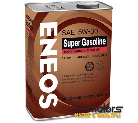 Моторное мало Eneos Super Gasoline 5w-30 100% Synthetic (4л.)