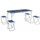 Набор мебели для пикника Zagorod В103 (стол +4 стула) (зеленый)