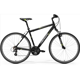 Велосипед Merida Crossway 10-V Matt Black/Green/Grey (2017), интернет-магазин Sportcoast.ru