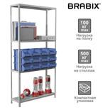 Стеллаж металлический Brabix MS KD-185/30/70-4 (S240BR123402)