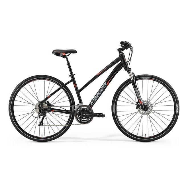 Велосипед Merida Crossway 300 Lady MattBlack/SignalRed/Grey (2017), интернет-магазин Sportcoast.ru